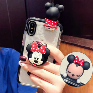 Cute-Minnie-Doll-Airbag-Holder-Stand-Case-Cover-for-iPhone-XS-Max-XR-6S-7-8-Plus