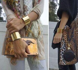 Fashion-Women-Gold-Silver-Chain-Wide-Bangles-Punk-Bracelets-Charm-Cuff-Jewelry
