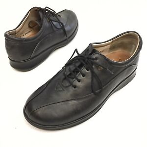 beauty good looking purchase cheap Details about Finn Comfort Brisbane Women's Shoes Sz 6.5W Uk 4 Oxford Black  Leather Wedge EUC