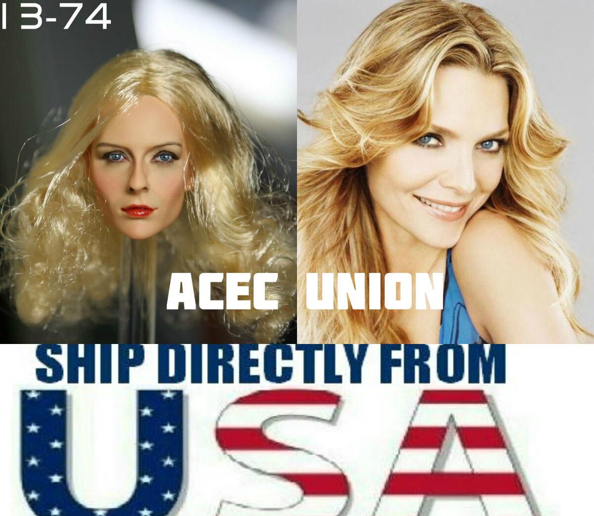 1 6 Michelle Pfeiffer Head Sculpt Catwoman For 12  PHICEN Female Figure USA