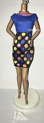 Barbie Fashionistas Model 51 Curvy Doll Outfit Polka Dot Fun Dress /& Shoes NEW