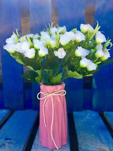 3xBouquet-Artificial-Flower-Fake-Mini-Rose-Wedding-Valentine-Home-Decor-Party-UK