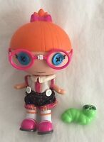 """Lalaloopsy Doll Little Sister Specs Reads a Lot w/ Inch Worm Pet 8"""""""