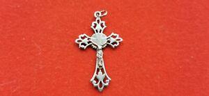 Cruz-Religiosa-Antigua-Plata-Maciza-Colgante-Jesus-Christ-REF55278
