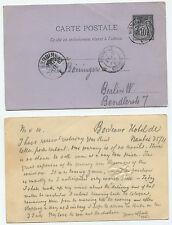 21951 - Ganzsache - Postkarte - Frankreich - Bordeaux 25.11.1882 nach Berlin