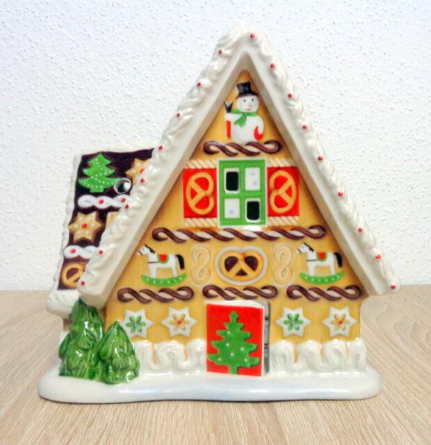 Lebkuchenhaus mit Spieluhr Villeroy & Boch Weihnachten Christmas Toys  Top