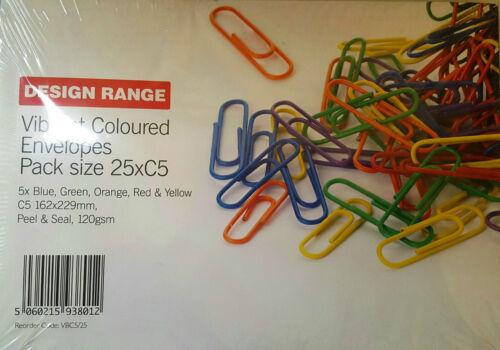 Gamme Dynamique couleur C5 Peel /& Seal enveloppes 50 Enveloppes Pour £ 6.99