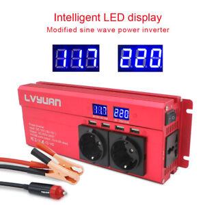 Spannungswandler-1000w-2000w-Wechselrichter-Inverter-12V-auf-230V-4-USB-3-socket