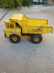 Vintage-Mighty-Tonka-Dump-Truck-Mighty-Toy-XMB-975-Pressed-Steel-1970-s