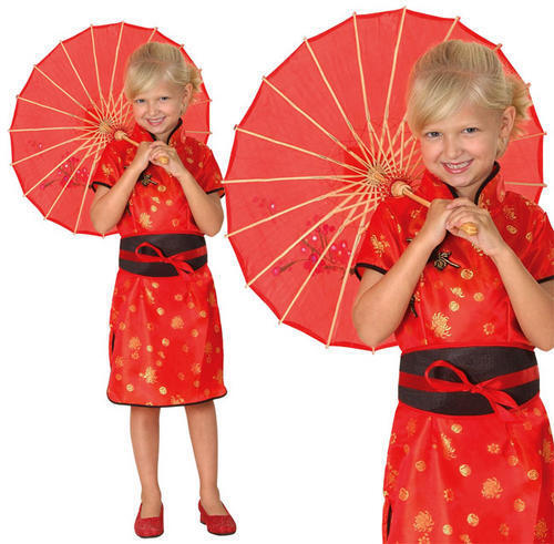 Enfants fille chinoise costume robe fantaisie oriental childs costume s