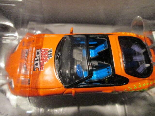 2003 New York Toy Fair ERTL 1995 Orange TOYOTA SUPRA promotionnel échelle 1 64 RARE