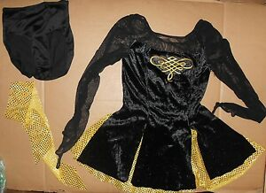 Black velvet irish dancing dresses