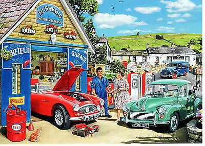 Austin Healey 3000 Shell Petrol Morris 1000 Landrover Austin Van blank art card