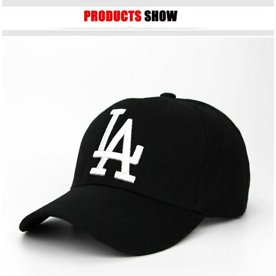 Men Women LA letter Baseball Caps Dodgers Embroidery Black Hip Hop Bone Hats