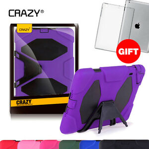 CRAZY Kids Heavy Duty Tough Case Cover Skin for iPad 2 3 4