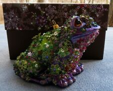 Jay Strongwater Mille Fiori Floral Frog Ornament New in Box