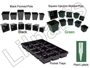 Small Plastic Molded Planters Plant Pots Seed Starter Trays Containers 1 Pint