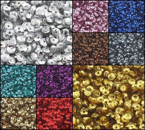 12000 Pailletten Gewölbt im Blister für Kleidung Schmuck 4mm 100g // 10 farben