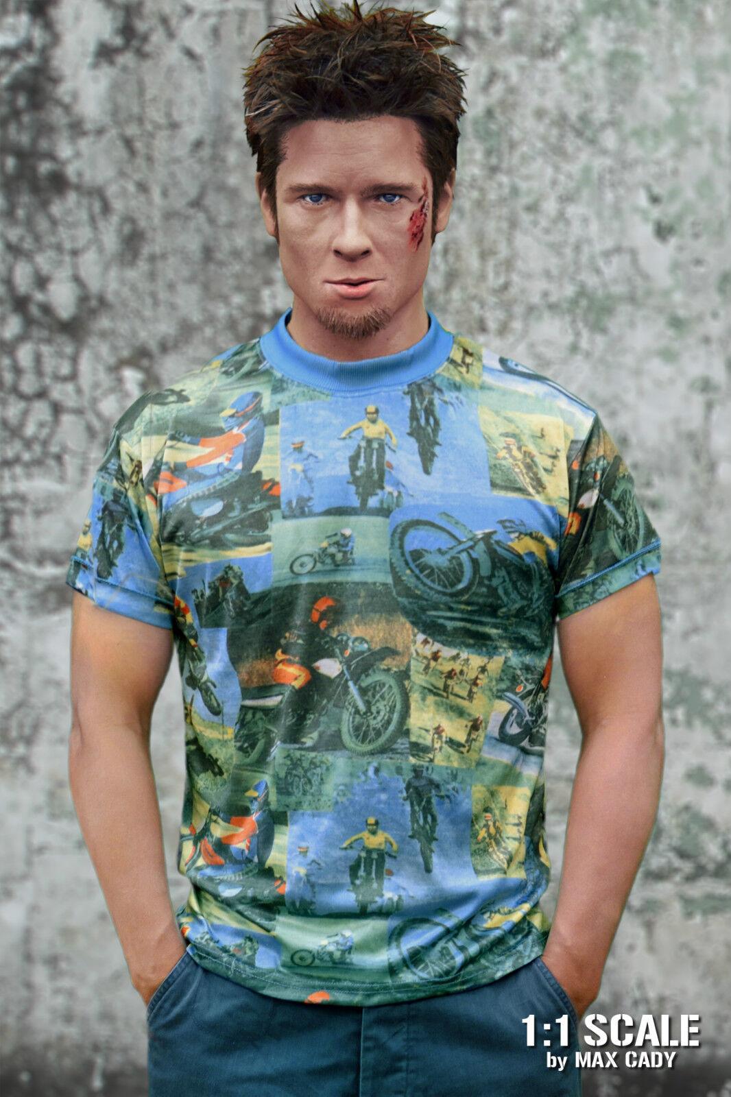 Screen Accurate FIGHT CLUB MOTOCROSS T shirt, Tyler Durden, Brad Pitt