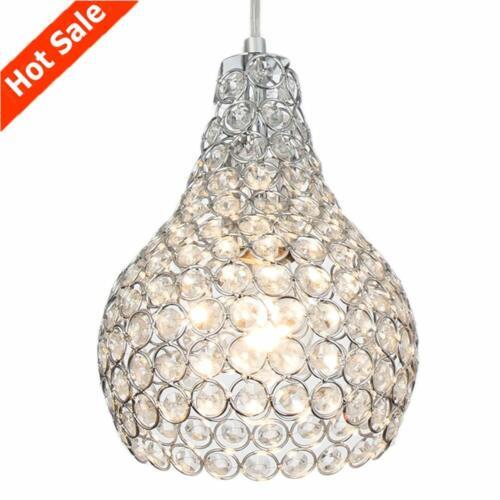 Popilion ornés Cristal et Chrome plafond Lumière Pendentif Réglable Pendentif éclairage