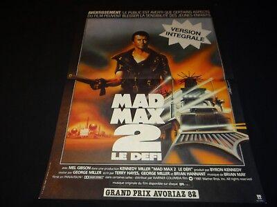 MAD MAX 2 LE DEFI Carte Postale Film Affiche Cinéma