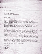 NIRVANA REPRO 1993 KURT COBAIN HAND SIGNED LETTER TO WILLIAM BURROUGHS NEVERMIND