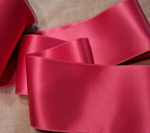 2-3-4-034-WIDE-SWISS-DOUBLE-FACE-SATIN-RIBBON-AZALEA-PINK-by-the-yard