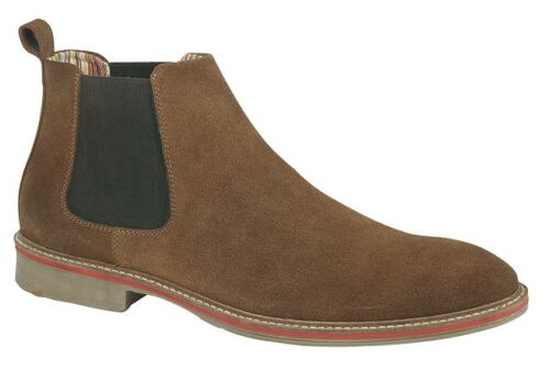 Mens New Sand Real Suede Desert Pull On Chelsea Ankle Boots 6 7 8 9 10 11 12