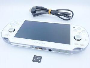 Sony PlayStation PS Vita PCH-1000 Wi-fi Consola de cristal blanco con 4GB MC y funda