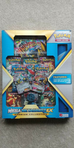Mega Metagross EX Premium Collection Box Pokemon TCG Promo Cards Playmat Packs
