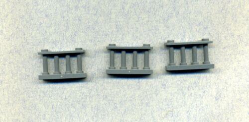 Lego--30055 Grau/DKStone- -Zaun--Spindelzaun--Gatter- 3 Stück