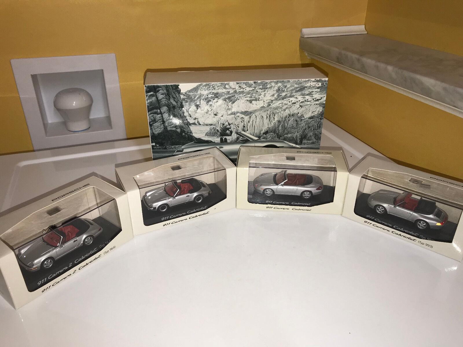 Porsche Design 2005 édition limitée 911 CABRIOLET Evolution quatre MODEL SET. NOUVEAU dans la boîte.
