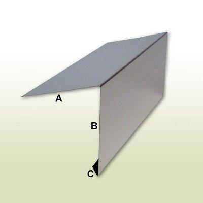 1 Meter BüGeln Nicht Länge KüHn Dachrandprofil Aus Vorbewittertem Titanzink Zuschnitt 250 Mm