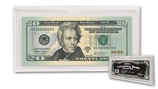 ONE BCW REGULAR BILL CURRENCY SLAB 2 PIECE SNAP HOLDER ,ACRYLIC  CLEAR CASE