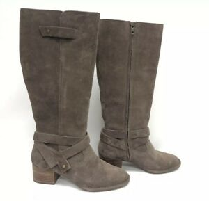 c62ca3840b1 Details about Ugg Australia Bandara Tall Boot Suede 1098311 Mysterious  Women's Stacked Heel ~