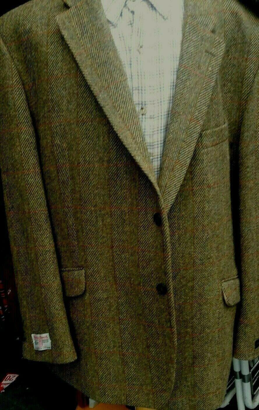 sizes Supérieures Hugo James Harris Tweed green Veste 127cm52 54 56