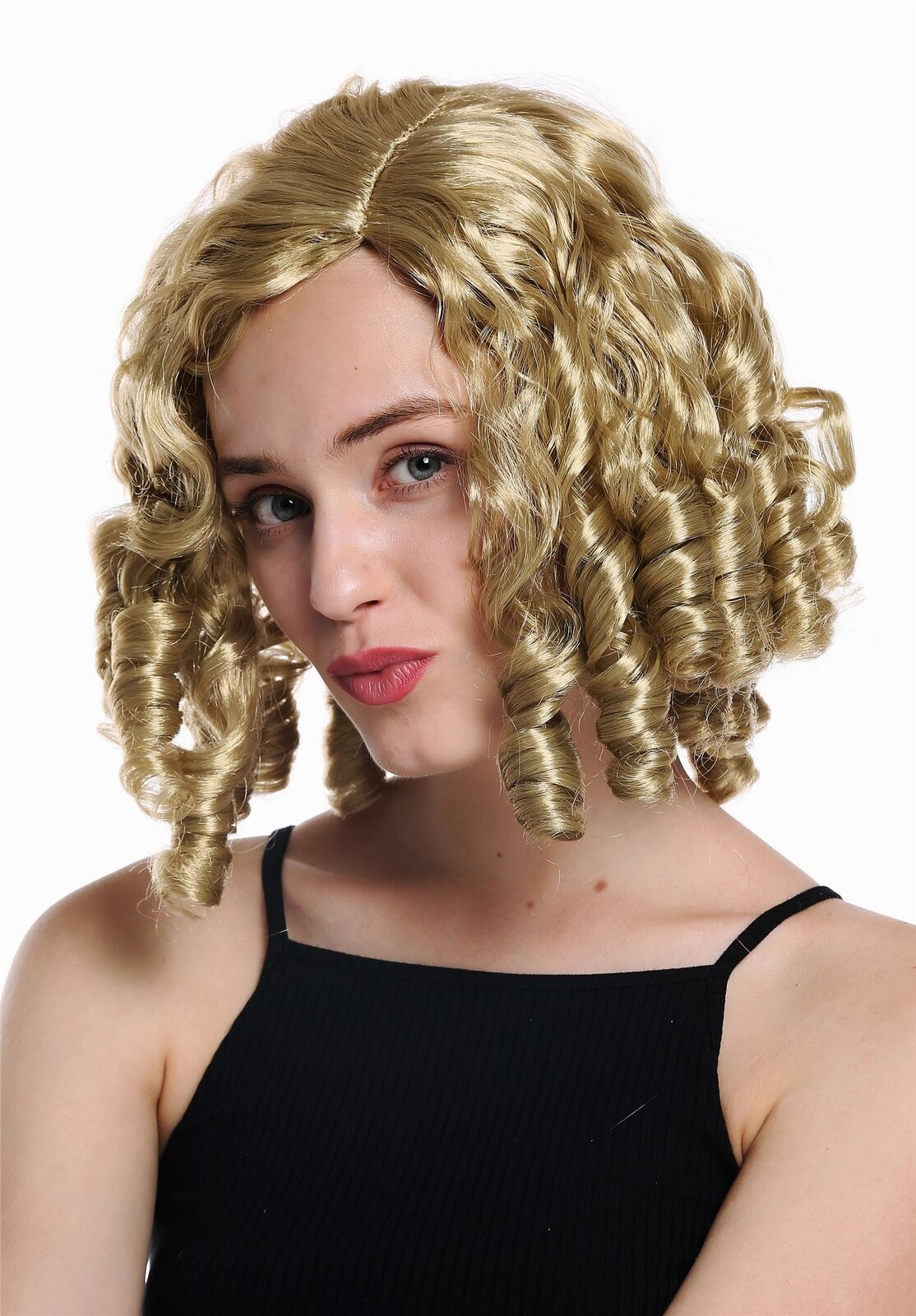 Wig Ladies Carnival Baroque Gothic Lolita Cosplay Corkscrew-Curl Grey