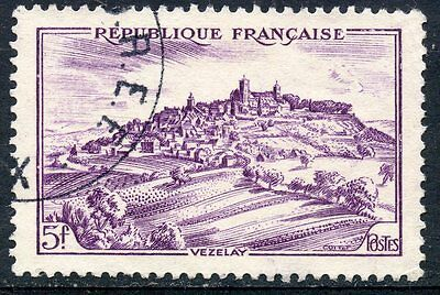 Architecture Hard-Working Stamp Timbre France Oblitere N° 759 Vezelay Relieving Rheumatism
