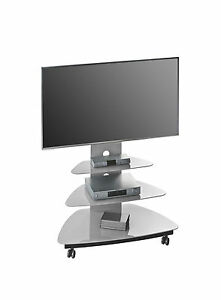 Design tv möbel glas  TV-Rack Board Ablage Glastisch Design Mod.MJ047 Metall Schwarz Glas ...
