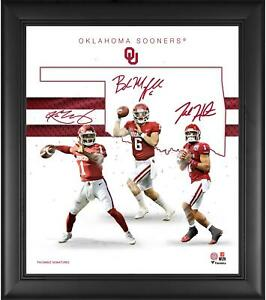 Oklahoma-Sooners-Framed-15-034-x-17-034-Quarterbacks-Franchise-Foundations-Collage
