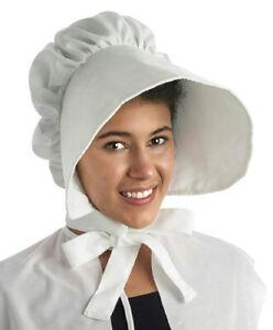 Image is loading Large-White-Floppy-Brimmed-Bonnet-Adult-Hat ab5e2589ef5