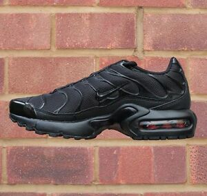 1e28b087c04 NIKE AIR MAX PLUS (GS) TUNED TN BLACK UNISEX JUNIOR 655020 009 UK ...