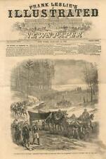 Pontoon Bridge on the March to Rappahannock  -  Civil War - Leslie's -1863