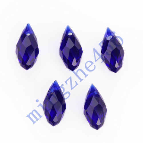 10pcs Teardrop faceted glass crystal Beads Spacer Findings 10x20mm Charms