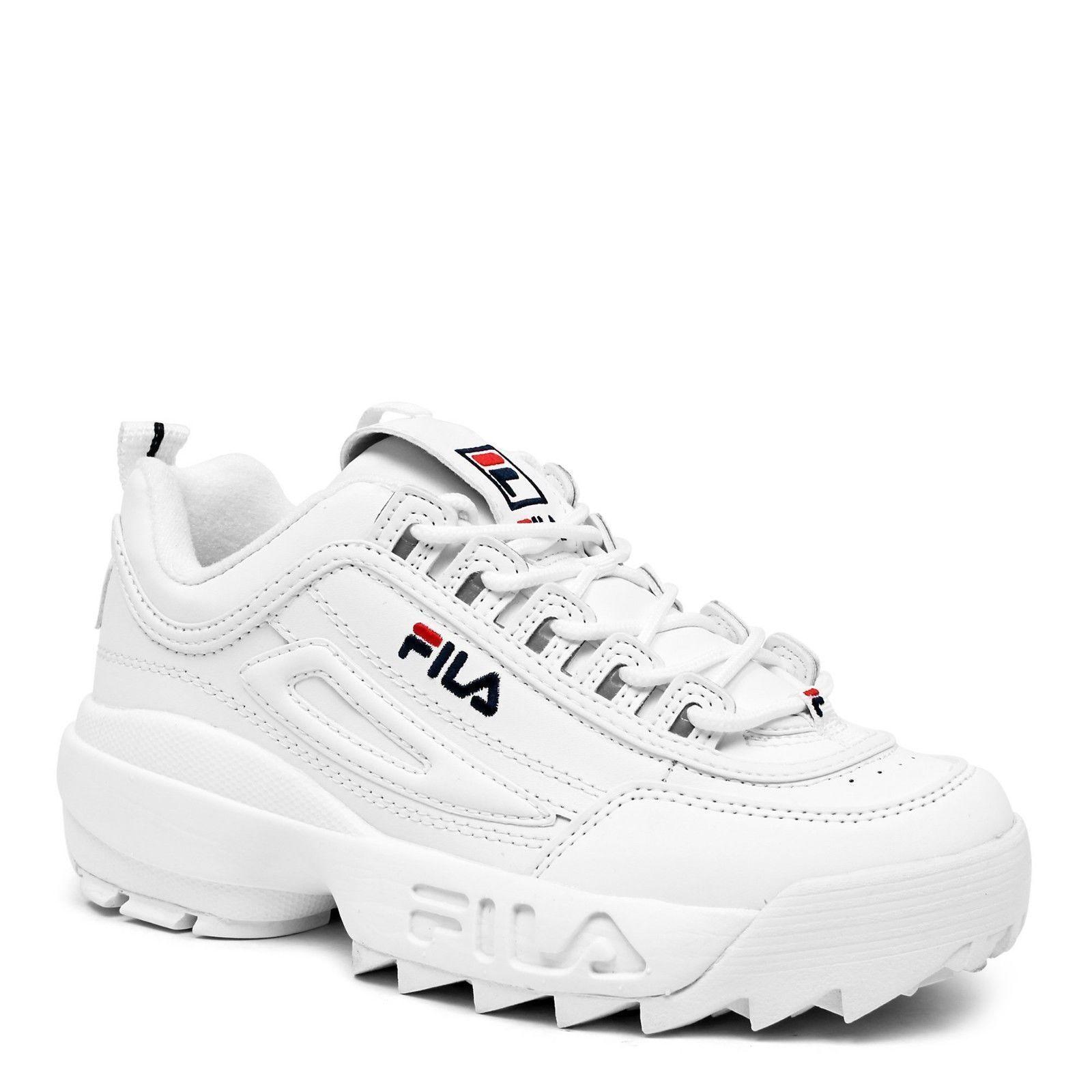 Fila sizes Disruptor II white/peact/vred FW01655-111 sizes Fila 5~7 8bb395