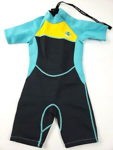 REALON Wetsuit Kids Full Surfing Suit 2mm Children Swimwear - NEW - Medium