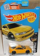 2016 Hot Wheels #89-250 Night Burnerz Yellow Custom '01 Acura Integra GSR #9-10