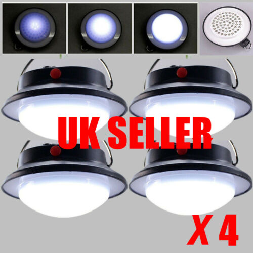 4pcs Ultra Bright Rechargeable 60 LED Camping Tent Light Lantern Fishing Lamp UK