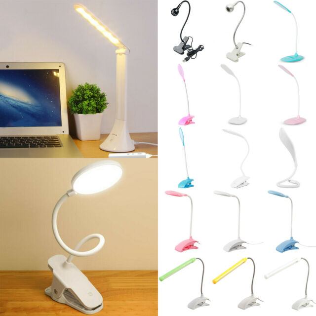 Clip-on Table Desk Bed Piano Reading Lights Desk Lamp LED Flexible Kid Children