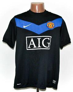 Manchester United 2009/2010 away football shirt jersey Nike taglia M adulto